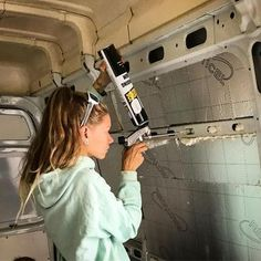 This is a great way to fill in all of the cracks and gaps when it comes to insulating a camper van! I want to buy this stuff when I start my own #vanlife build!