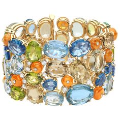 One-of-a-kind bracelet from Bulgaris High Jewelry collection in yellow gold