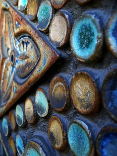 Mosaic tiles with amazing color and texture. Mosaic Crafts, Mosaic Art, Mosaic Glass, Mosaic Tiles, Mosaic Mirrors, Stained Glass, Mosaic Definition, Rust In Peace, Peeling Paint