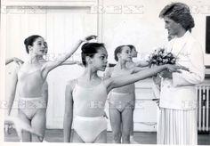 May 17, 1988 Princess Diana Visiting The Royal Ballet School At White Lodge Richmond Park.