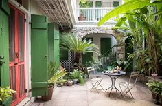 Though tiny, the home doesallow for both indoor and outdoor entertaining, and the lower courtyard has seen its fair share of soirees.