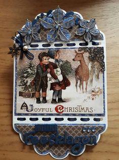 Kerst met de nieuwe mal van Christmas Cards To Make, Christmas Tag, Christmas Decorations, Xmas, Ticket Card, Studio Lighting, Box, Card Making, Essentials