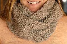 knitted actually, but why not make with all single crochet instead?  Love the neutral color!