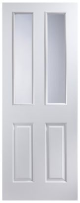 4 Panel White Smooth Internal Glazed Door, NAT26TD4PG £ 80 - frosted glass
