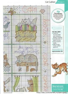 Cross stitch cats, pin 2 of 3