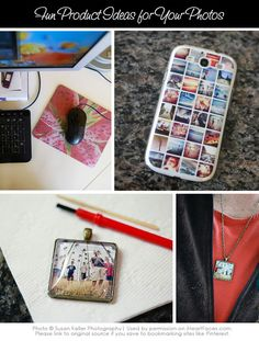 Fun & creative ideas to make your photos into gifts!  {via iHeartFaces.com}