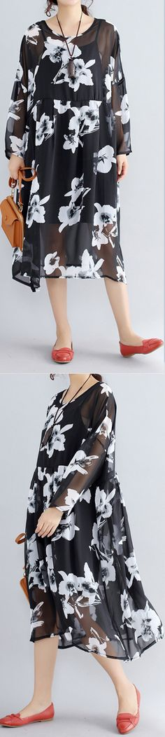 photo-color-chiffon-dresses-casual-chiffon-dress-New-two-pieces-floral-dress3