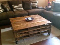Ideas for Pallet Coffee Table for Living Room In 2020 16 Genius Handmade Pallet Wood Furniture Ideas You Will Wooden Pallet Furniture, Handmade Furniture, Rustic Furniture, Wood Pallets, Pallet Wood, Furniture Ideas, Pallet Lift, Diy Pallet, Homemade Coffee Tables