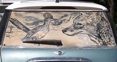 """Roadrunner & Coyote"" by Scott Wade of Dirty Car Art (dirtycarart.com). Love it!"