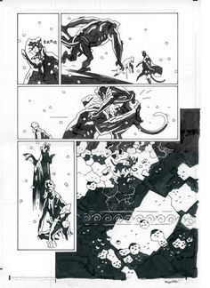 Hellboy in Hell 3 page Comic Art