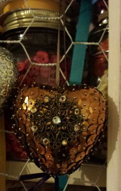 Polystyrene and sequin hanging ornament