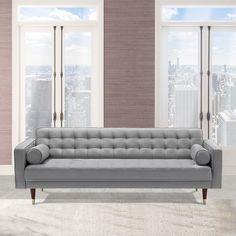 Somerset Velvet Mid Century Modern Sofa