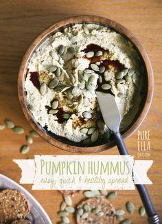 Pumpkin Hummus : easy, quick and healthy sandwich spread or dip
