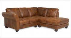 Small Leather Corner sofa #CornerSofa