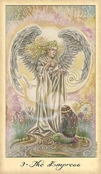The Empress: Look for opportunities to be generous, warm, and nurturing. Source:  The Empress Tarot Card - Ghosts & Spirits Tarot Deck