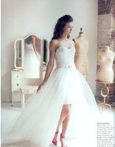 As seen our Bride and Groom Portland Summer 2013 Issue : Wtoo Porsha dress and Wtoo Riley Skirt   http://watters.com/Product/WtooBrides/10393/#viewtype:viewall
