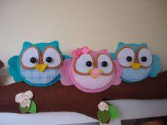 Gracinhas Artesanato: Coruja feltro (felt owl)