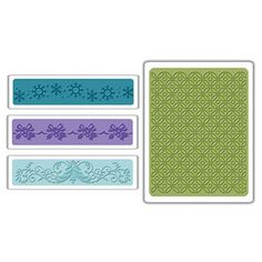 Sizzix Textured Impressions Embossing Folders 4PK - Christmas Set #6 $10.99