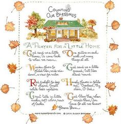 susan Branch - Counting Our Blessings poem
