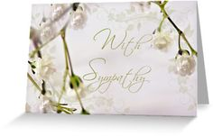 Babys Breath Macro - With Sympathy Card Greeting Cards & Postcards by Sandra Foster | Redbubble