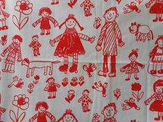 Mysigt TYG  FAMILJEN design Anna-Lena Emdén  70 tal  Retro