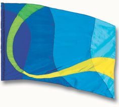 fi183Blg Blue Color Guard flag from The Band Hall