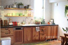 古材 壁付けキッチン