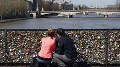 Two Americans started a petition to have the 'love locks' on the Pont des Arts bridge taking down. The women have a decent argument, but lack sympathy. They claim it is vandalism and the keys that are thrown into the Seine cause pollution. The picture shows just a piece of what the bridge looks like.