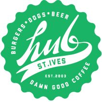 St Ives Hub Bar - dogs, burgers, craft beers & damn good coffee --Hub St Ives