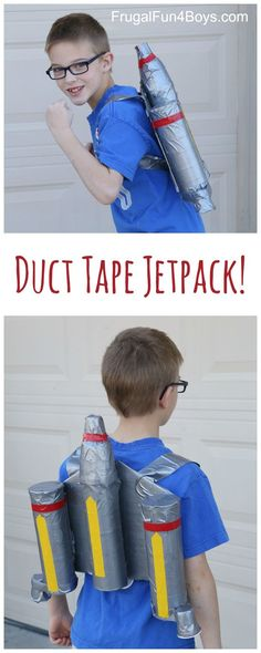 How to Make a Duct Tape Star Wars Mandalorian Jetpack - Fun Star Wars costume/dress up idea!