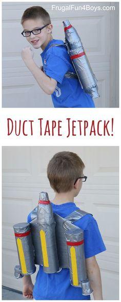 How to Make a Duct Tape Star Wars Mandalorian Jetpack - Fun Star Wars costume/dress up idea!