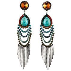 DANNIJO Valerija Earrings ($395) ❤ liked on Polyvore