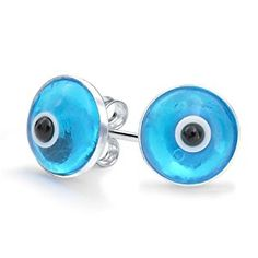 Bling Jewelry Sterling Silver Blue Evil Eye Stud Earrings  http://electmejewellery.com/jewelry/religious-jewelry/religious-earrings/bling-jewelry-sterling-silver-blue-evil-eye-stud-earrings-com/