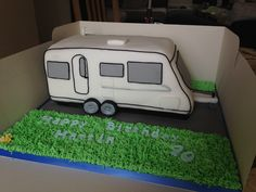 Caravan Cake 31.8.13 Made by Me (Little Cakes 82) #caravan