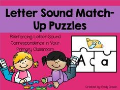 Letter sound puzzles reinforcing letter-sound correspondence in your primary classroom! Included in this FREEBIE are 26 puzzles… Alphabet Sounds, Alphabet Phonics, Alphabet Book, Letter Sounds, Initial Sounds, Preschool Alphabet, Alphabet Activities, Teaching Resources, Literacy Activities