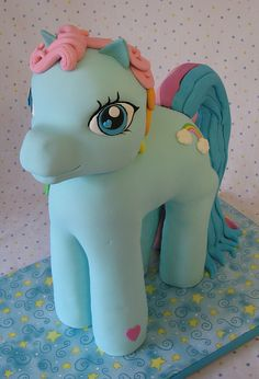 My Little Pony-  This magnificent My Little Pony Cake's legs are made from Rice Krispy treats, while the body and head are cake. Which makes it all delicious.@Victoria Brown Hall-McNeal