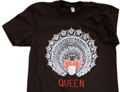 """Queen"" Cartoon T-shirt by K.Beaton of ""Hark, a Vagrant!"" Link: http://www.topatoco.com/merchant.mvc?Screen=PROD_Code=TO_Code=BEAT-QUEEN_Code=BEAT#"