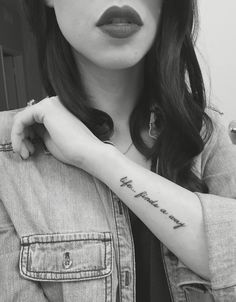 Life finds a way tattoo ... Because Jurassic Park ... outer forearm placement cursive script font