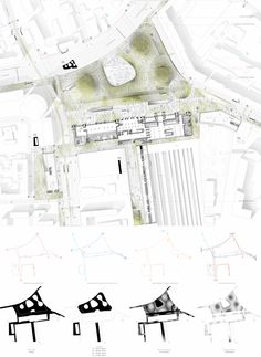 Проект транспортно-пересадочного узла «Павелецкая». Генеральный план. 2015 © Архитектурное бюро WALL
