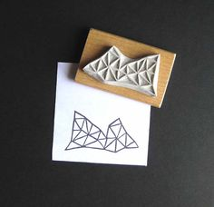 Crystal Configuration 18  Hand Carved Stamp by extase on Etsy, $14.00