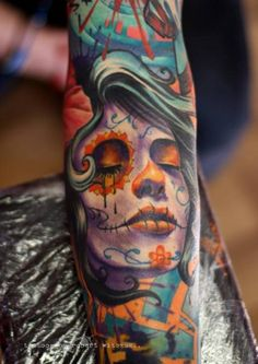 45 Gorgeous Day of the Dead Women Tattoos