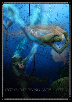Diving Historical Prints | Scuba Diver | Offshore Diver | Hard Hat Diver - Diving Prints Page 3