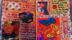 DIY: Creating a new JOURNAL PAGE To Vent My Worries, Smash Book, Art Jou...
