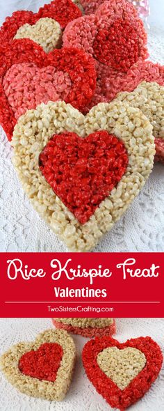 Rice Krispie Treat Valentines - colorful, festive and delicious - a Valentines Day dessert that everyone will love. We have all the directions you'll need to make these special Valentine's Day treats for your family. Follow us for more great Valentines Day Food ideas.