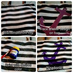DIY anchor designed bag