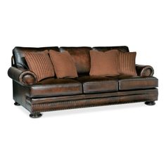 """Foster Elite 98"""" Leather Sofa by Bernhardt 