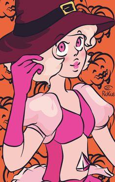 Pink Diamond Steven Universe, Steven Universe Gem, Universe Art, Pink Diamond Su, Diamond Icon, Halloween Icons, Happy Halloween, Cartoon Movies, Cartoon Art