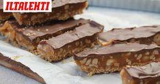Näihin MaaBaker-blogin suklaapatukoihin voi jäädä koukkuun. Onneksi ne valmistuvat nopeasti. Finnish Recipes, Healthy Treats, Toffee, Bakery, Food And Drink, Cooking Recipes, Sweets, Snacks, Chocolate
