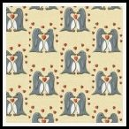 free penguins of love backing paper pack yellow