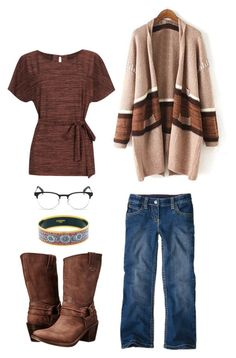 """""""Monday"""" by mountain-girl-lynn ❤ liked on Polyvore featuring мода, Ray-Ban, Warehouse, Frye и Hermès"""